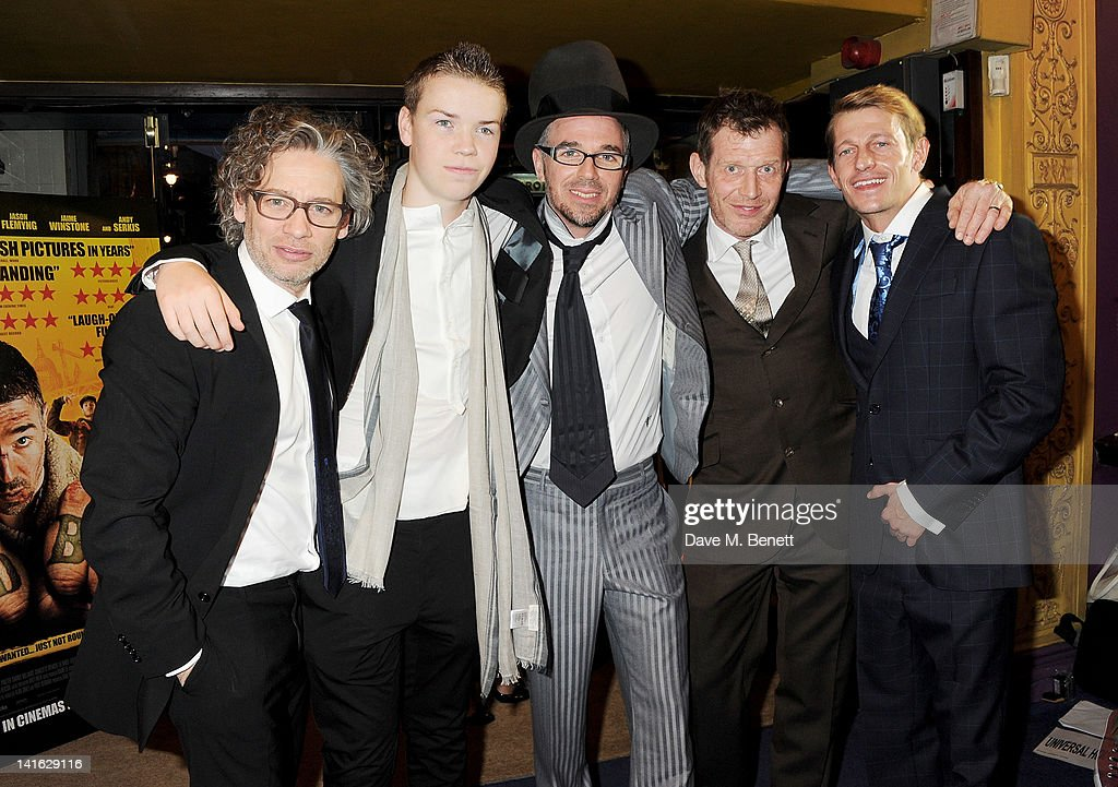 Director Dexter Fletcher and actors Will Poulter Charlie CreedMiles Jason Flemyng and Leo Gregory attend the premiere of 'Wild Bill' at Cineworld...