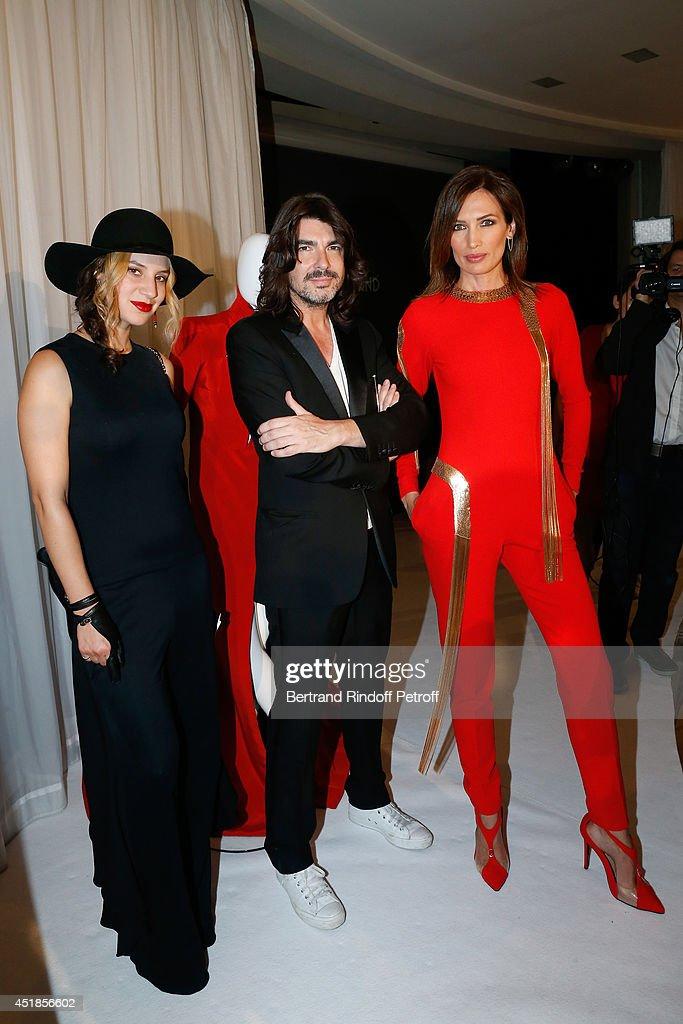 Director Diane Sagnier Fashion designer Stephane Rolland and model Nieves Alvarez attend the Stephane Rolland show as part of Paris Fashion Week...