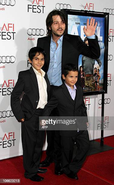Director Diego Luna and actors Christopher RuizEsparaza and Gerardo RuizEsparaza arrive at 'Abel' screening during AFI Fest 2010 at Grauman's Chinese...