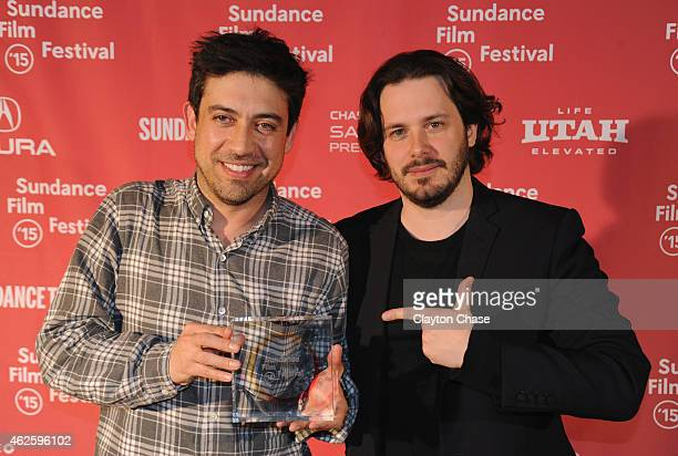 Director Director Alfonso GomezRejon of 'Me and Earl and the Dying Girl' and juror Edgar Wright attend the Awards Night Ceremony during the 2015...