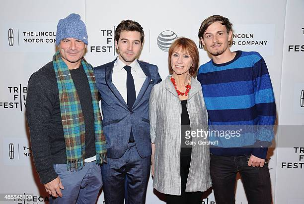 Director Dito Montiel and actors Roberto Aguire Kathy Baker and Giles Matthey attend the premiere of 'Boulevard' during the 2014 Tribeca Film...