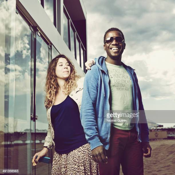 Director Djinn Carrenard and Salome Blechmans are photographed for Self Assignment on May 16 2014 in Cannes France