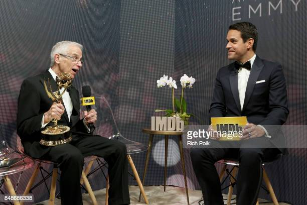 Director Don Roy King winner of the award for Outstanding Directing for a Variety Series for 'Saturday Night Live' and host Dave Karger attend IMDb...