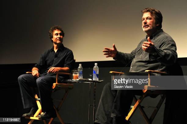 Director Doug Liman and actor Alec Baldwin speak during the Tribeca Talks Directors Series Doug Liman With Alec Baldwin during the 2011 Tribeca Film...