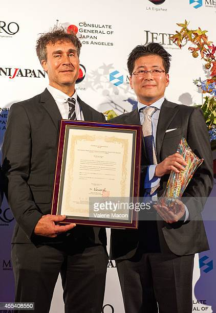 Director Doug Liman and writer Hiroshi Sakurazaka attend the 2nd Annual Japan Cool Content Contribution Awards Ceremony on September 13 2014 in Los...