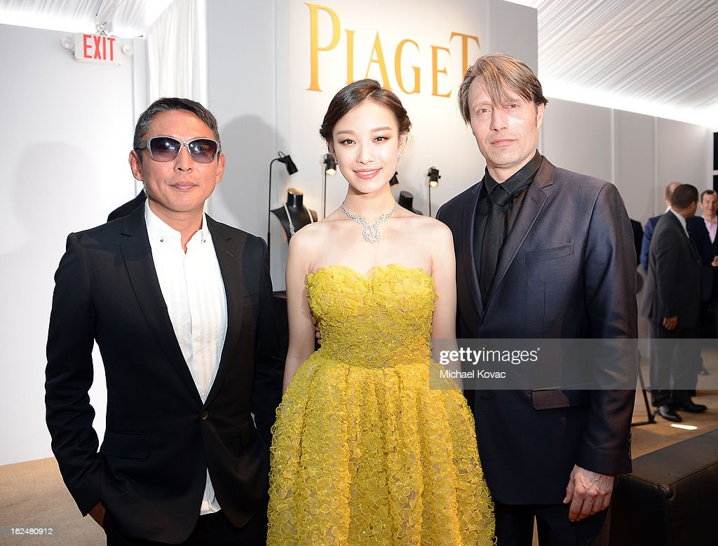Director Doze Niu, Actors Ziyi Zhang and Mads Mikkelsen arrive at The 2013 Film Independent Spirit Awards on February 23, 2013 in Santa Monica, California.