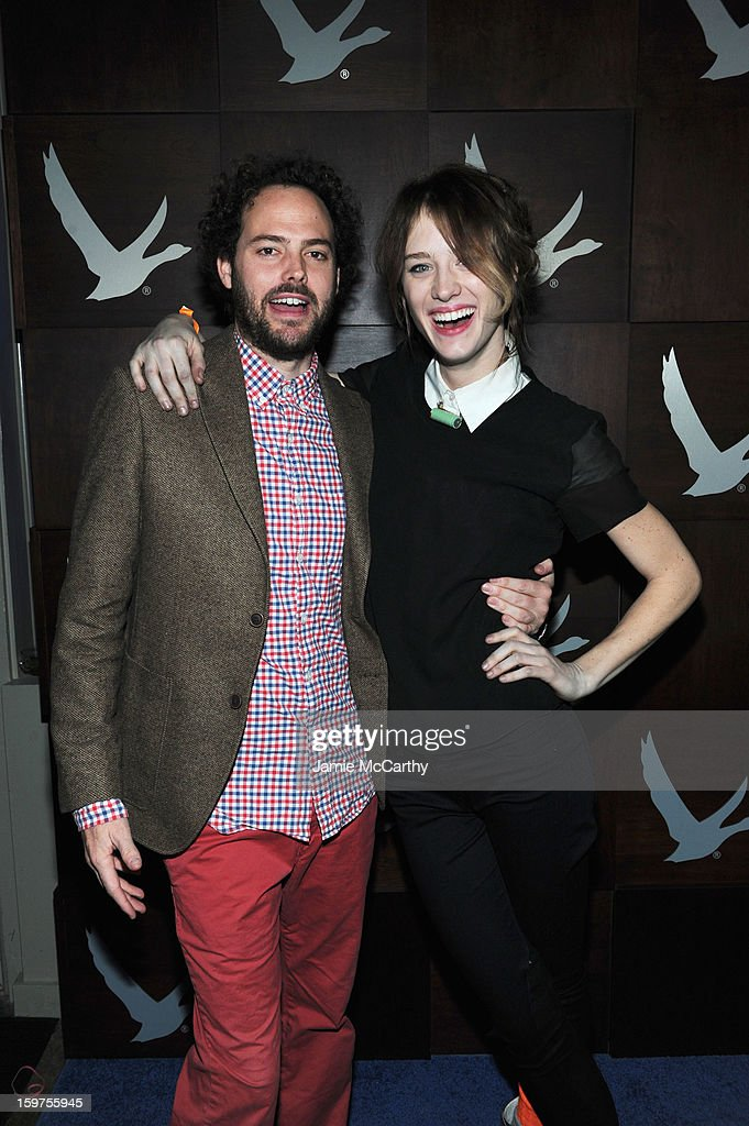 Director <a gi-track='captionPersonalityLinkClicked' href=/galleries/search?phrase=Drake+Doremus&family=editorial&specificpeople=5669779 ng-click='$event.stopPropagation()'>Drake Doremus</a> and actress Mackenzie Davis attend Grey Goose Blue Door Anonymous Content Party on January 19, 2013 in Park City, Utah.