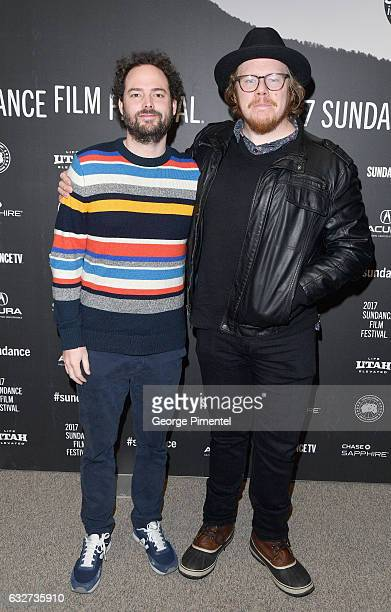 Director Drake Doremus and screenwriter Ben York Jones attend the 'Newness' Premiere on day 7 of the 2017 Sundance Film Festival at Eccles Center...