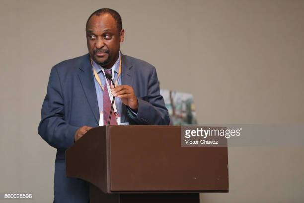Director DrugResistant TB TB HIV MoH South Africa Dr Norbert Ndjeka speaks during the TB Alliance Stakeholders Association Annual Meeting at the...