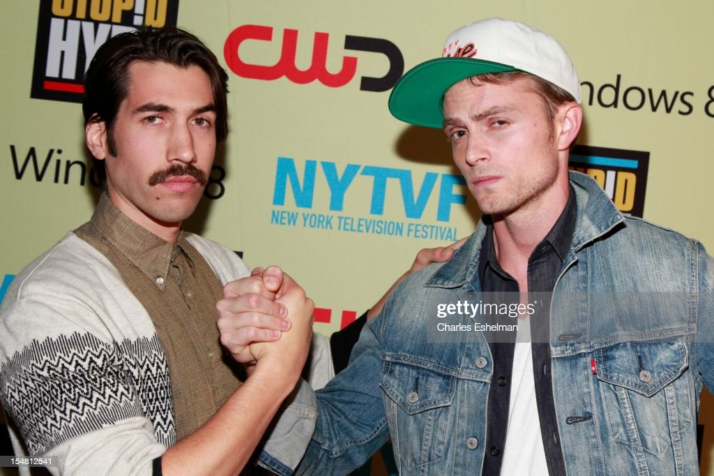 Director Dugan O'Neal and actor Wilson Bethel attend 'Stupid Hype' Series Premiere at 54 Varick on October 26, 2012 in New York City.