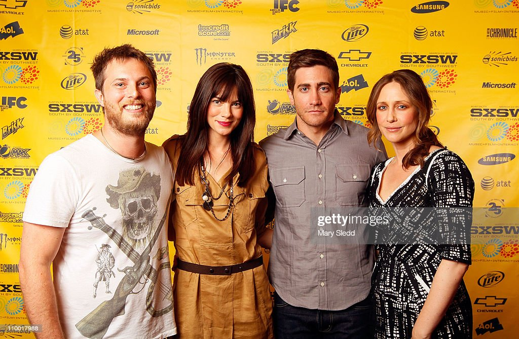 Director <a gi-track='captionPersonalityLinkClicked' href=/galleries/search?phrase=Duncan+Jones+-+Film+Director&family=editorial&specificpeople=7554328 ng-click='$event.stopPropagation()'>Duncan Jones</a> and actors <a gi-track='captionPersonalityLinkClicked' href=/galleries/search?phrase=Michelle+Monaghan&family=editorial&specificpeople=213746 ng-click='$event.stopPropagation()'>Michelle Monaghan</a>, <a gi-track='captionPersonalityLinkClicked' href=/galleries/search?phrase=Jake+Gyllenhaal&family=editorial&specificpeople=201833 ng-click='$event.stopPropagation()'>Jake Gyllenhaal</a> and <a gi-track='captionPersonalityLinkClicked' href=/galleries/search?phrase=Vera+Farmiga&family=editorial&specificpeople=227012 ng-click='$event.stopPropagation()'>Vera Farmiga</a> attend the 2011 SXSW Music, Film + Interactive Festival 'Source Code' Premiere at Paramount Theater on March 11, 2011 in Austin, Texas.