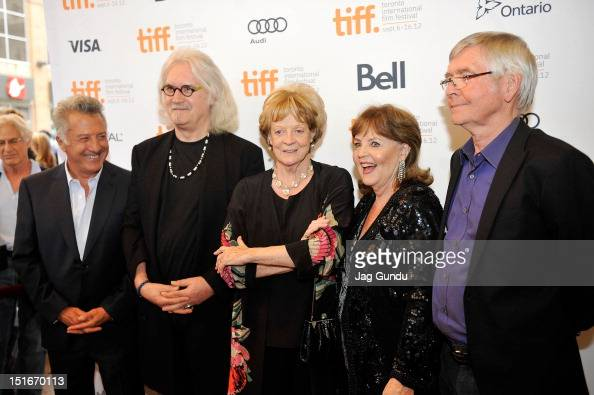 Director Dustin Hoffman actor Billy Connolly actresses Maggie Smith Pauline Collins and actor Tom Courtenay arrive at the 'Quartet' Premiere at the...
