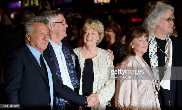 Director Dustin Hoffman actor Tom Courtenay actress Dame Maggie Smith actress Pauline Collins and comedian Billy Connolly attend the premiere of...