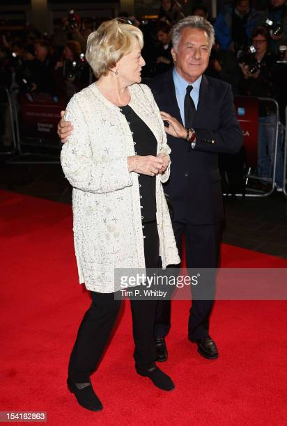Director Dustin Hoffman and actress Maggie Smith attend the 'Quartet' premiere during the 56th BFI London Film Festival at the Odeon Leicester Square...