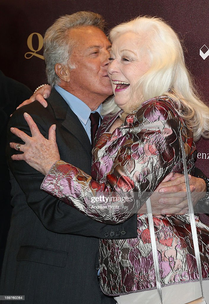 Director <a gi-track='captionPersonalityLinkClicked' href=/galleries/search?phrase=Dustin+Hoffman&family=editorial&specificpeople=171356 ng-click='$event.stopPropagation()'>Dustin Hoffman</a> and Gwyneth Jones attend the premiere of 'Quartet' at Deutsche Oper on January 20, 2013 in Berlin, Germany.