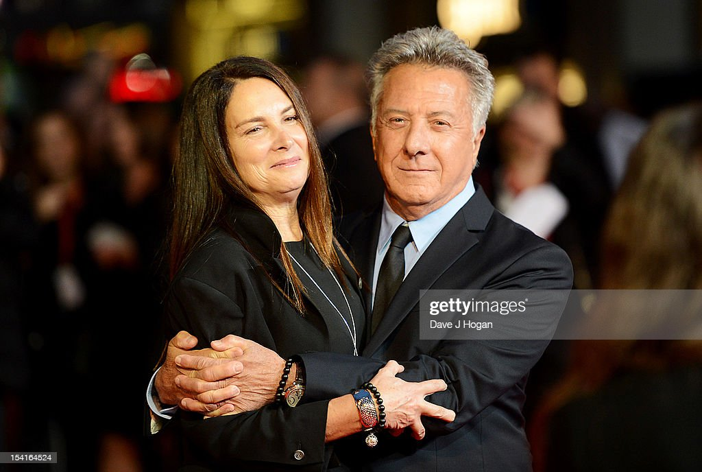 Director Dustin Hoffman and wife Lisa Gottsegen attend the premiere of 'Quartet' during the 56th BFI London Film Festival at Odeon Leicester Square on October 15, 2012 in London, England.