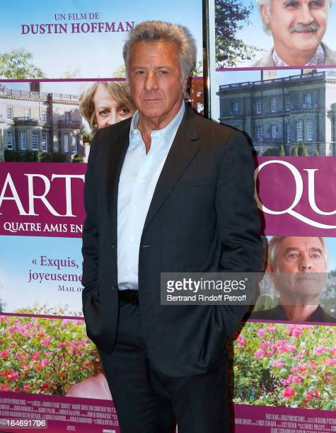 Director Dustin Hoffman attends 'Quartet' movie premiere held at UGC Cine Cite les Halles on March 26 2013 in Paris France