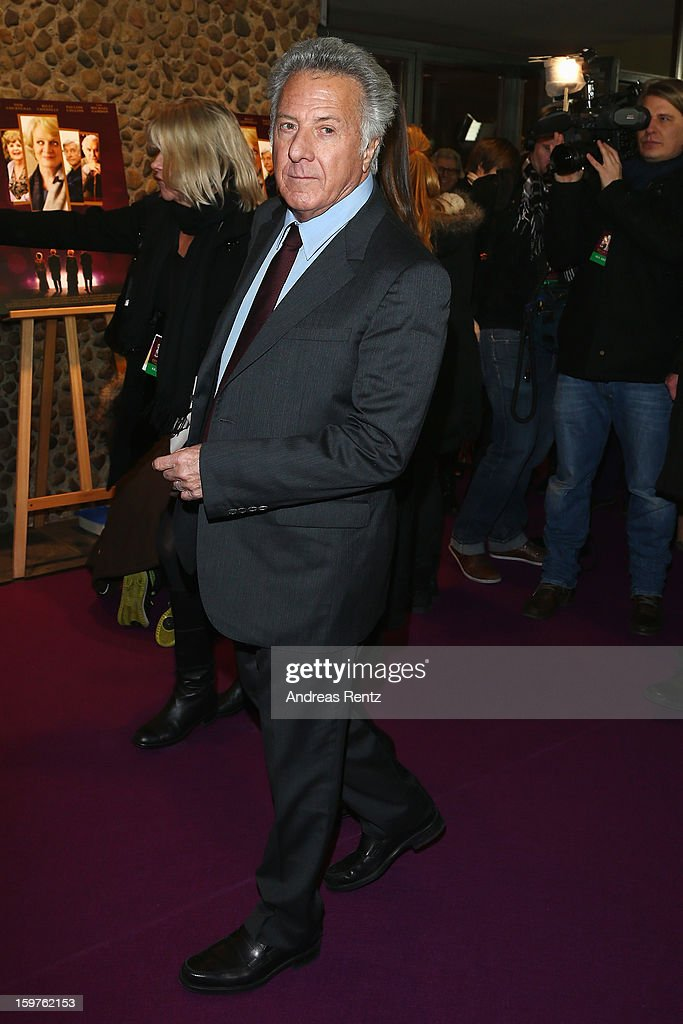 Director Dustin Hoffman attends the premiere of 'Quartet' at Deutsche Oper on January 20, 2013 in Berlin, Germany.