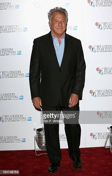 Director Dustin Hoffman attends the 'Quartet' photocall during the BFI London Film Festival at the Empire Leicester Square on October 15 2012 in...