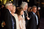 Director Dustin Hoffman introduces actor Tom Courtenay actress Dame Maggie Smith actress Pauline Collins and comedian Billy Connolly attend the...