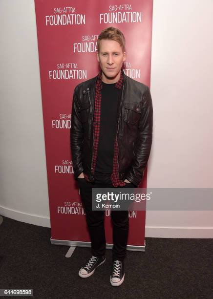 Director Dustin Lance Black attends the SAGAFTRA Foundation Conversations 'When We Rise' at SAGAFTRA Foundation Robin Williams Center on February 23...