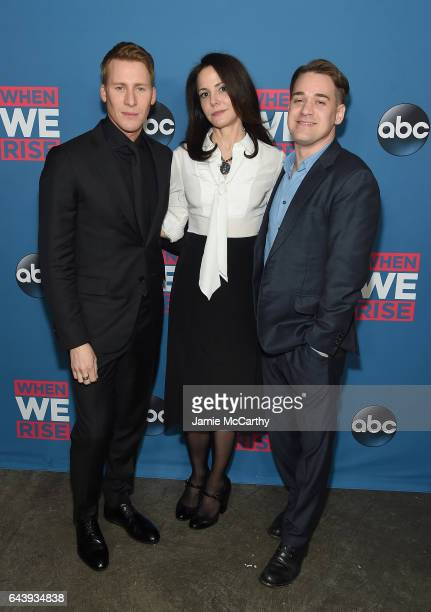 Director Dustin Lance BlackMaryLouise Parker and TR Knight attend the 'When We Rise' New York Screening Event at The Metrograph on February 22 2017...