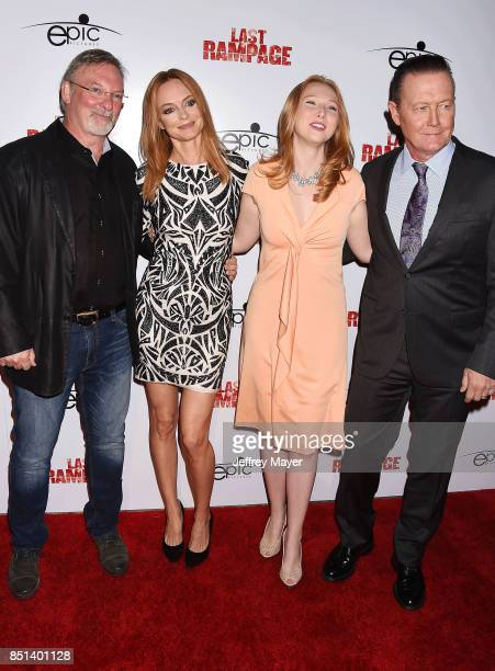 Director Dwight Little actors Heather Graham Molly Quinn and Robert Patrick attend the Premiere Of Epic Pictures Releasings' 'Last Rampage' at...