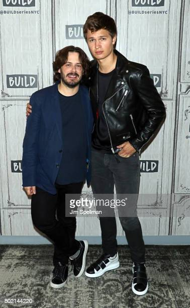 Director Edgar Wright and actor Ansel Elgort attend Build to discuss 'Baby Driver' at Build Studio on June 27 2017 in New York City