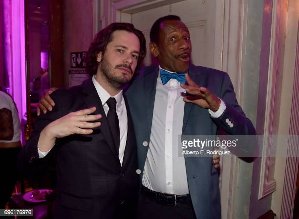 Director Edgar Wright and actor CJ Jones attend the after party for the premiere of Sony Pictures' 'Baby Driver' on June 14 2017 in Los Angeles...