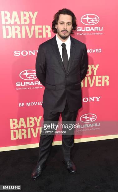 Director Edgar Wright arrives at the Premiere of Sony Pictures' 'Baby Driver' at Ace Hotel on June 14 2017 in Los Angeles California