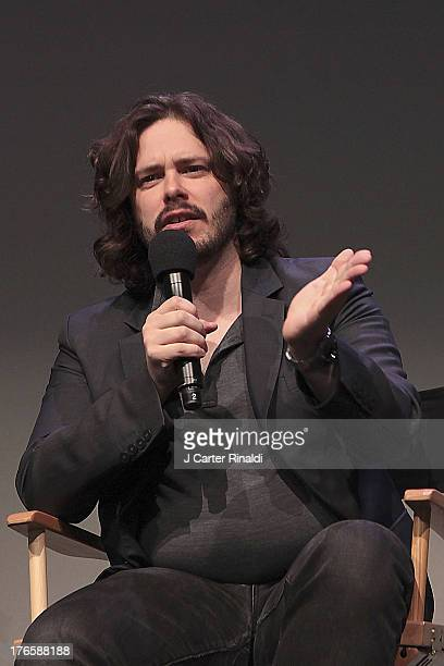 Director Edgar Wright at Meet The Filmmakers 'The World's End' at Apple Store Soho on August 15 2013 in New York City