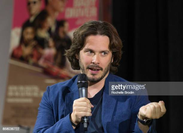 Director Edgar Wright talks about the making of his film 'Baby Driver' at a panel discussion at the Petersen Automotive Museum on October 4 2017 in...