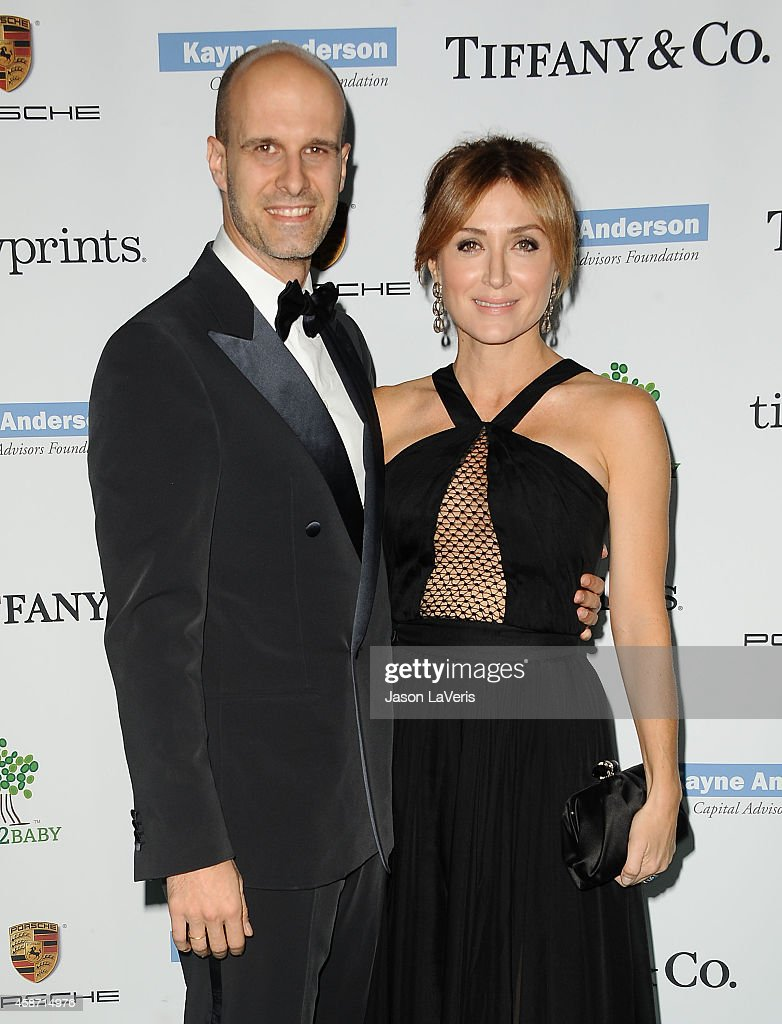 Director Edoardo Ponti and actress Sasha Alexander attend the 2014 Baby2Baby gala at The Book Bindery on November 8, 2014 in Culver City, California.