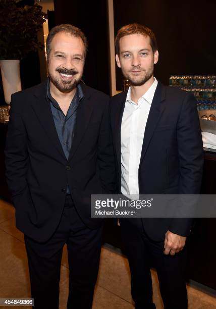 Director Edward Zwick and actor Tobey Maguire attend the Variety Studio presented by Moroccanoil at Holt Renfrew during the 2014 Toronto...