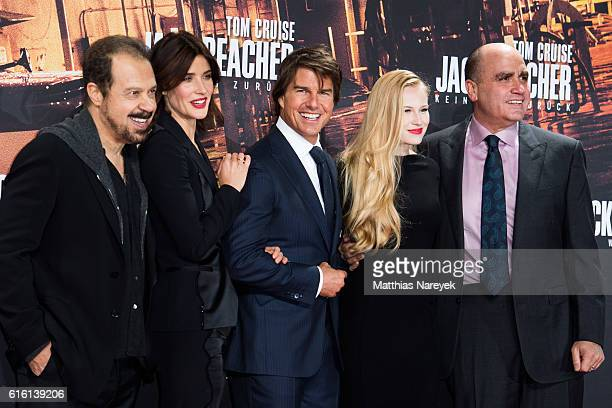 Director Edward Zwick Cobie Smulders Tom Cruise Danika Yarosh and producer Don Granger attend the 'Jack Reacher Never Go Back' Berlin Premiere at...