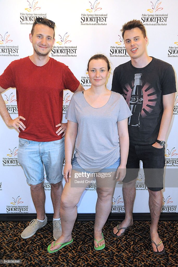 Director Efim Graboy, Screenwriter Malwina Wodzicka and Director Filip Hillesland attend the 2016 Palm Springs International ShortFest - Saturday Screenings & Events on June 25, 2016 in Palm Springs, California.