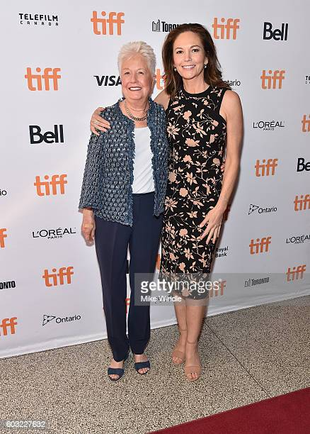 Director Eleanor Coppola and actress Diane Lane attend the 'Paris Can Wait' premiere during the 2016 Toronto International Film Festival at Winter...