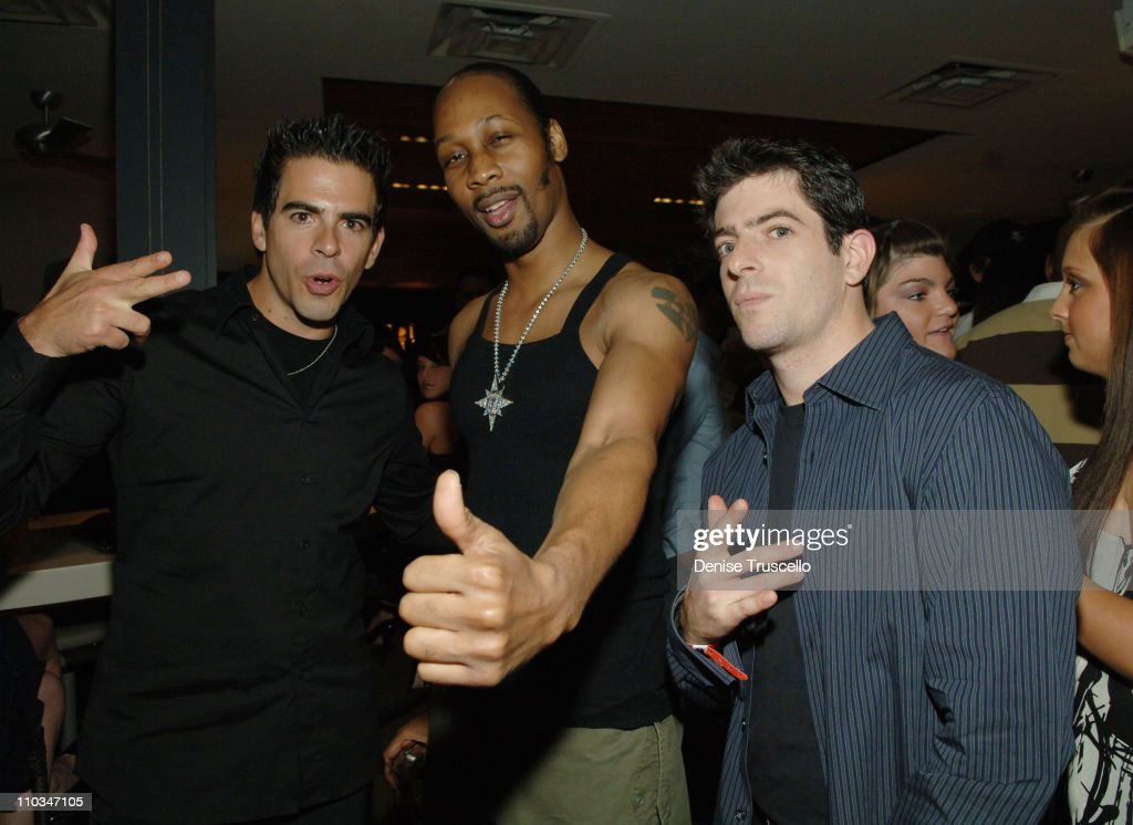 Director Eli Roth actor Rza and Gabriel Roth at Fergie and Quentin Tarantino's birthday reception at Bare Pool Lounge at The Mirage Hotel and Casino...