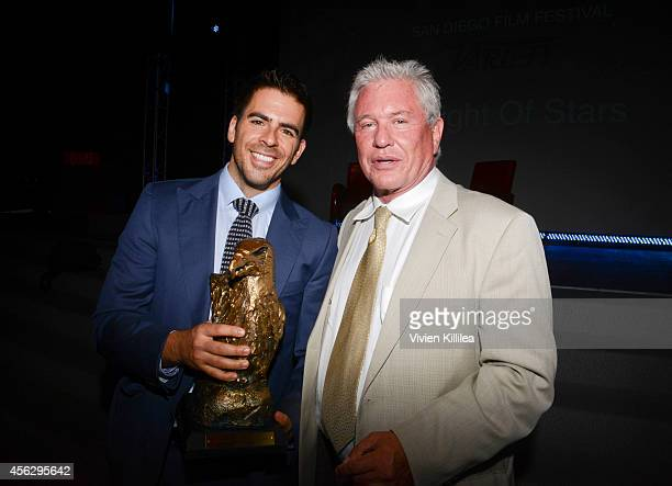 Director Eli Roth and actor Tom Berenger attend the opening night tribute at the San Diego Film Festival 2014 on September 27 2014 in San Diego...