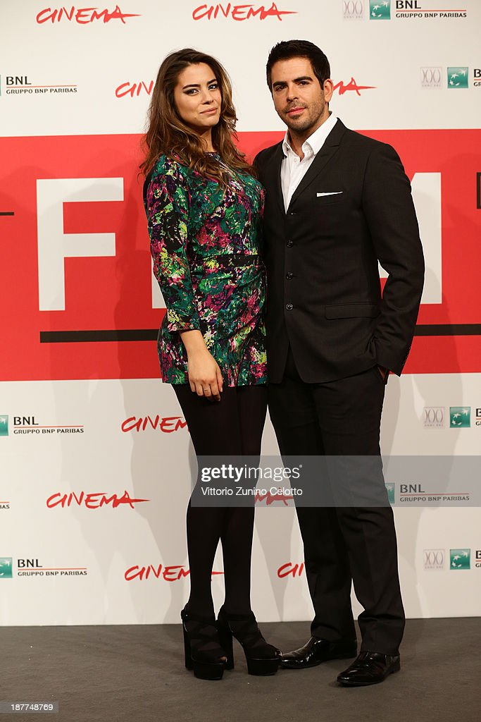 Director Eli Roth and actress Lorenza Izzo attend the 'The Green Inferno' Photocall during the 8th Rome Film Festival at the Auditorium Parco Della Musica on November 12, 2013 in Rome, Italy.