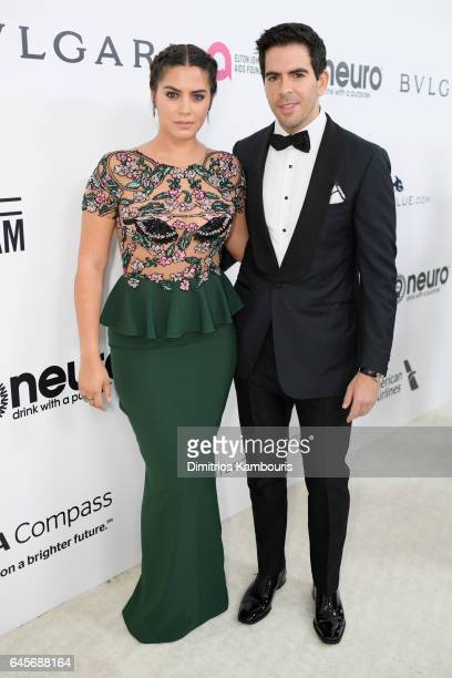 Director Eli Roth and Lorenza Izzo attend the 25th Annual Elton John AIDS Foundation's Academy Awards Viewing Party at The City of West Hollywood...