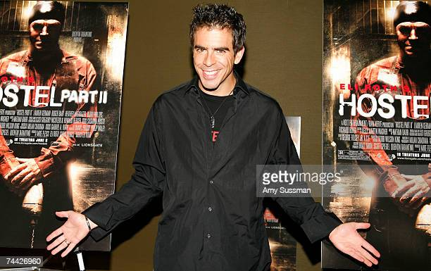Director Eli Roth attends a special screening of Hostel Part II hosted by The Museum of Moving Images at AMC Theater on 42nd Street on June 6 2007 in...
