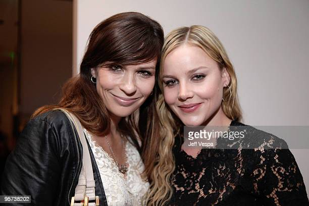 Director Elissa Down and actress Abbie Cornish attend Stella McCartney's party to honor Abbie Cornish's performance in 'Bright Star' held at Stella...