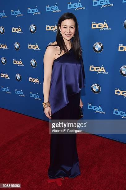 Director Elizabeth Chai Vasarhelyi attends the 68th Annual Directors Guild Of America Awards at the Hyatt Regency Century Plaza on February 6 2016 in...
