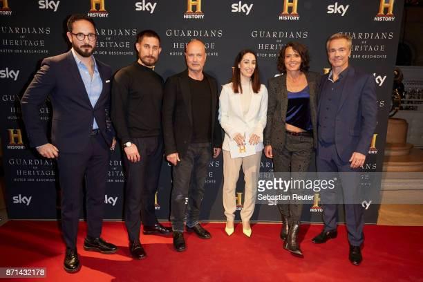 Director Emanuel Rotstein actors Clemens Schick Christian Berkel host Vivian Perkovic actress Ulrike Folkerts and actor Hannes Jaenicke attend the...