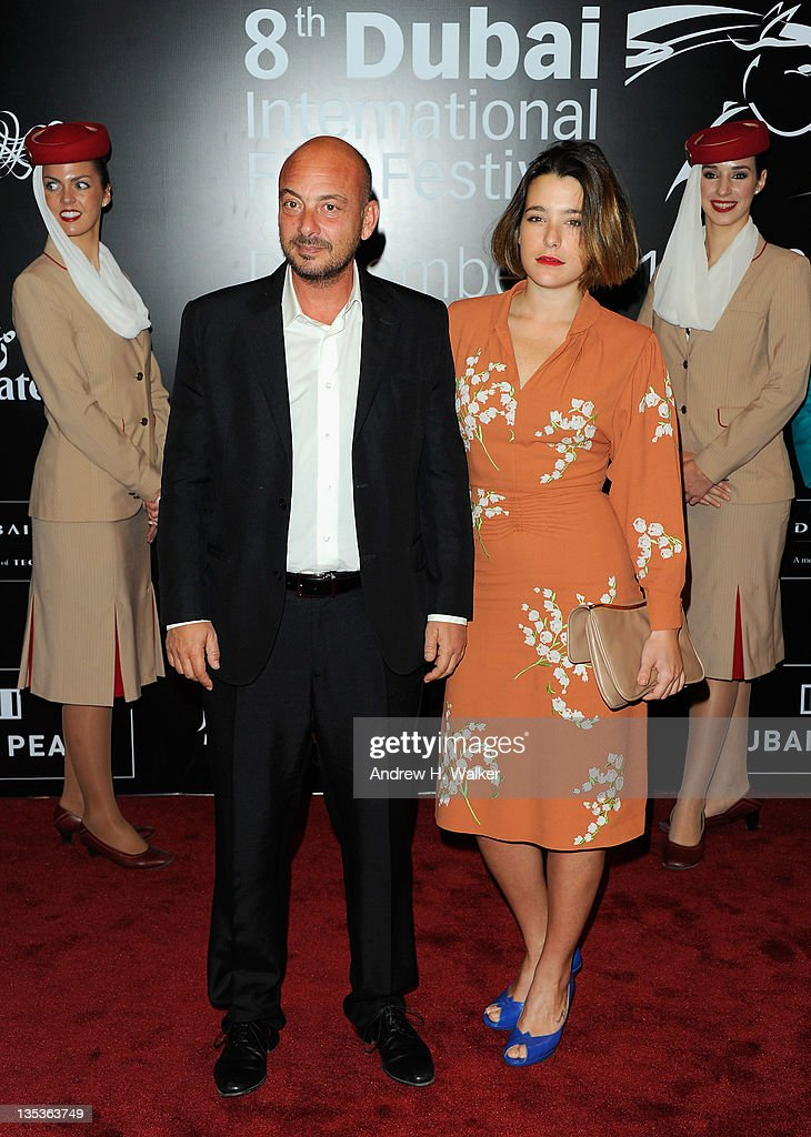 Director <a gi-track='captionPersonalityLinkClicked' href=/galleries/search?phrase=Emanuele+Crialese&family=editorial&specificpeople=3011853 ng-click='$event.stopPropagation()'>Emanuele Crialese</a> and actress <a gi-track='captionPersonalityLinkClicked' href=/galleries/search?phrase=Martina+Codecasa&family=editorial&specificpeople=6872711 ng-click='$event.stopPropagation()'>Martina Codecasa</a> attend the 'Terraferma' premiere during day three of the 8th Annual Dubai International Film Festival held at the Madinat Jumeriah Complex on December 9, 2011 in Dubai, United Arab Emirates.