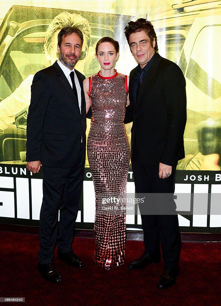 Director <a gi-track='captionPersonalityLinkClicked' href=/galleries/search?phrase=Emily+Blunt&family=editorial&specificpeople=213480 ng-click='$event.stopPropagation()'>Emily Blunt</a> and <a gi-track='captionPersonalityLinkClicked' href=/galleries/search?phrase=Benicio+Del+Toro&family=editorial&specificpeople=203277 ng-click='$event.stopPropagation()'>Benicio Del Toro</a> attend the UK Premiere of 'Sicario' at Empire Leicester Square on September 21, 2015 in London, England.