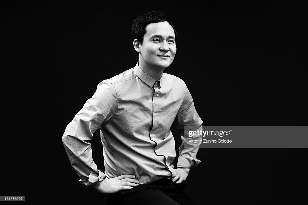 Director Emir Baigazin attends the 'Harmony Lessons' Portrait Session during the 63rd Berlinale International Film Festival on February 15 2013 in...