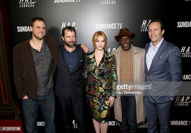 Director EP writer Jim Mickle Actors James Purefoy Christina Hendricks and Michael Kenneth Williams and President and GM AMC and SundanceTV Charlie...
