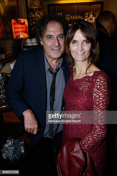Director Eric Assous and his wife Veronique Boulanger attend the 'Tout ce que vous voulez' Theater Play at Theatre Edouard VII on September 19 2016...